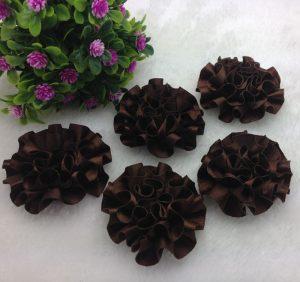 3 פרחים לקישוט אריזה - גוון חום