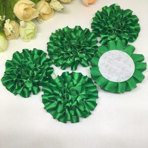 3 פרחים לקישוט אריזה - גוון ירוק