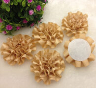 3 פרחים לקישוט אריזה בגוון זהוב