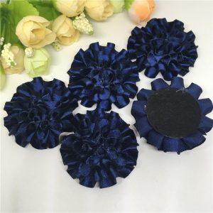 3 פרחים לקישוט אריזה בגוון כחול