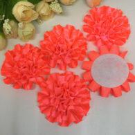 3 פרחים לקישוט אריזה בגוון כתום