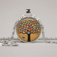 תליון ושרשרת מוכסף סמל עץ החיים הקבלי
