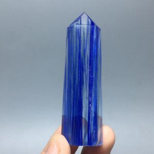 מוט קוורץ כחול - קלקנטייט במשקל: 37 גרם