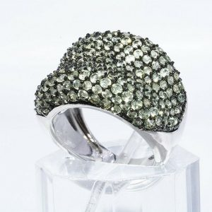 טבעת יוקרה כסף 925 בשיבוץ 188 פרידות 6.01 קרט במידה: 6.25