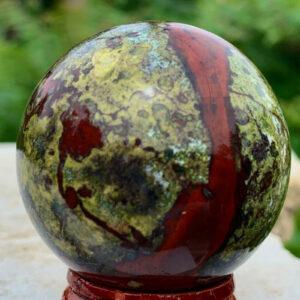"""כדור בלדסטון ומעמד עץ מסוגנן במשקל: 131 גרם קוטר: 33 מ""""מ"""