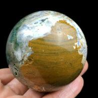 """כדור ג'ספר אוושן ומעמד עץ מסוגנן במשקל: 233.5 גרם קוטר: 53 מ""""מ"""