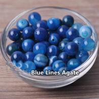 """תכשיטנות: אגט כחול 100 יחידות במידה: 6 מ""""מ"""